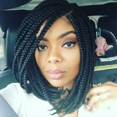 Buy this high quality wigs for black women lace front wigs human hair wigs african american wigs the same as the hairstyles in picture Big Box Braids, Bob Braids, Short Braids, Twist Braids, Box Braids Hairstyles, Hairstyle Names, Dance Hairstyles, Braids For Black Hair, Black Girl Braids