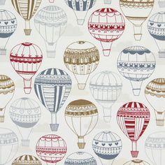 Balloon Ride 1 - Bavlna - barva vlny Balloon Rides, Kids Zone, Kids Storage, Fabric Decor, Art Tutorials, 9 And 10, Fiber Art, Lana, Cotton Fabric
