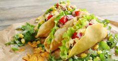 tacos salade maïs poivron fromage crabe