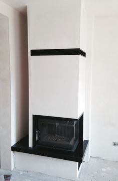 nowoczesny kominek narożny n77 Home Fireplace, Fireplaces, House, Design, Home Decor, Container Shop, Decorative Fireplace, Houses, Fire Places