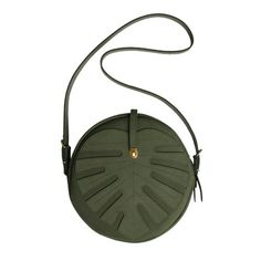 Green Leather bag, Monstera Leaf bag, Forest green, circle bag, on Etsy, $232.32 CAD // #MyStyle via #EtsyShops one i havent seen before wow im in love w this #handbags