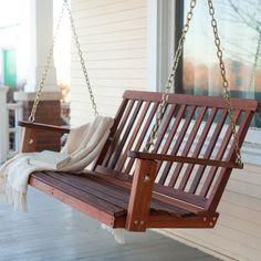 Perfekte Holz Schaukel im Garten - 10 coole, aktuelle Ideen