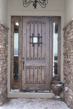 Eto doors is a leading supplier of name-brand residential, commercial, and garage doors. shop online to find quality entry doors, interior doors, Door Design, Exterior Design, Interior And Exterior, Rustic Exterior, House Entrance, Entrance Doors, Door Entry, Entryway, Garage Doors