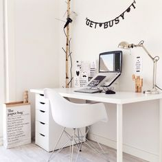 Workspace | Home Office Details | Ideas for #homeoffice | Interior Design | Decoration | Organization | Architecture | White Desk