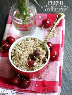 This fresh cherry cobbler recipe will knock your socks off!