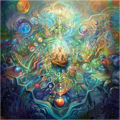 Try meditation & psytrance www. Try meditation Psychedelic Art, Art Lsd, Art Visionnaire, Meditation Art, Art Graphique, Visionary Art, Surreal Art, Fractal Art, Art World