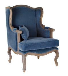 """кресло серо-голубое """"Сезарина"""""""