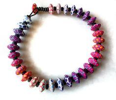 "Fimo Halskette ""Nuria"" von Silvia Ortiz de la Torre auf DaWanda.com"