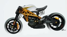 Motorcycle sketches by Daniel Gunnarsson at Coroflot.com