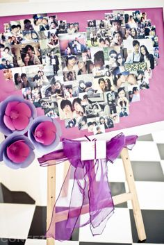 Proposal in Vietnam - Heart picture frame. It's   pixs collection from first dating.