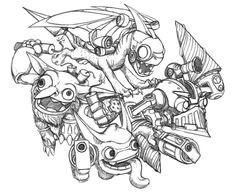Coloring page Skylanders : Skylanders - Tech 14