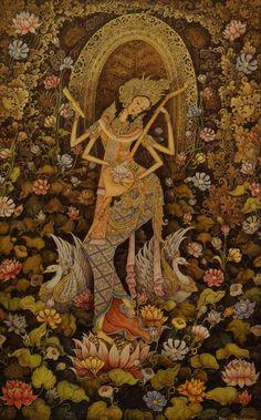 Saraswati, the Hindu goddess of art and music