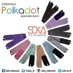 Essentials Polkadot by Soka Material : Spandex Nylon  #soka #socks #kaoskaki #kaoskakisoka #sokasocks #mysocks #style #fashion