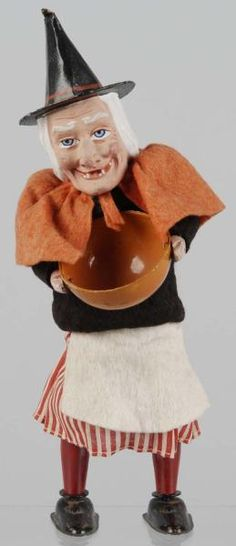 Lot # : 384 - Halloween Witch Wind-Up Toy.