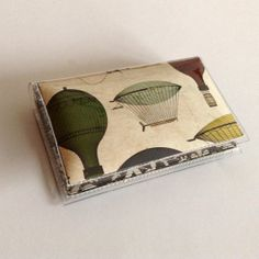 Quick Snap Card Holder  Hot Air Balloon vinyl wallet by DearSukie, $8.00