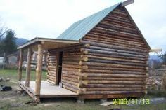 How to build a log cabin from free Forest products.