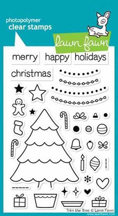 Lawn Fawn - Clear Acrylic Stamps - Christmas - Trim the Tree at Scrapbook.com