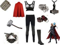 """Female Thor"" by octobermoon Halloween Duos, Diy Halloween Costumes, Adult Costumes, Cosplay Costumes, Costume Ideas, Avengers Costumes, Halloween Stuff, Cosplay Ideas, Halloween Crafts"