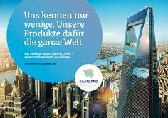 """Großes entsteht immer im Kleinen"""" so lautet das Motto der Saarland Kampagne. - Uns kennen nur wenige. Unsere Produkte dafür die ganze Welt - steht hier. Verbaut wurde Stahl aus Dillingen im Saarland.(www.facebook.com/... ). Die Kampagne soll das Saarland bei jungen Menschen beliebter machen und dazu dienen dem Fachkräftemangel im Saarland und Saarbrücken entgegenzuwirken. #kampagne #jvm #saaris #zpt #saarland #marketing"""