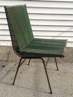 Vtg. mid century modern Rope String Chair By Allan Gould Designed 1952 #MidCenturyModern #AllanGould