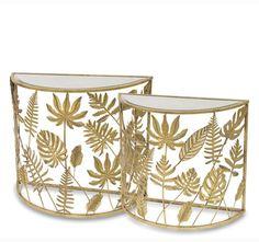 Jungle Glamour, stolik boczny, kpl.2szt, wys.76 / 67.5cm - tendom.pl Glamour, Metal, Beauty, Home Decor, Beleza, Room Decor, Metals, Home Interior Design, Home Decoration