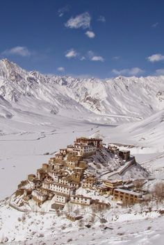 Kye Gompa is a Tibetan Buddhist monastery located on top of a hill at an altitude of 4,166 metres above sea level, close to the Spiti River, in the Spiti Valley of Himachal Pradesh, Lahaul and Spiti district, India