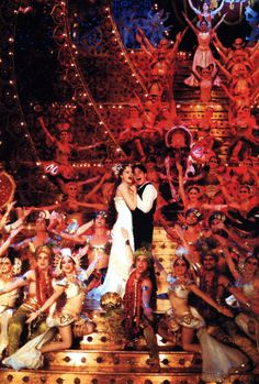 Satine & Christian. Moulin Rouge. another very great idea for wedding photos