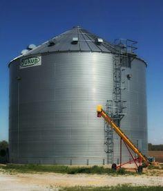 This grain bin holds 55,000 bushels of corn #Nebraska #corn