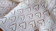 Knitted baby blanket-linen blanket throw-hand by irmasknittings