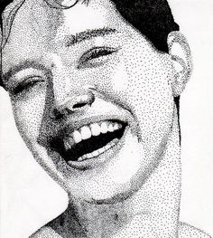 pointillisme with fineliner by glimmie Anime Drawings Sketches, Anatomy Sketches, Ink Pen Drawings, Stippling Drawing, Stylo Art, Dotted Drawings, Portrait Art, Portraits, Fashion Painting