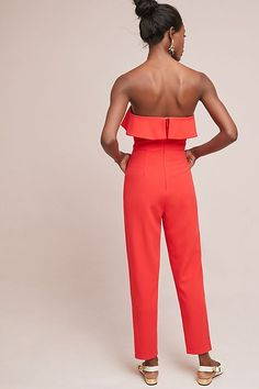 Slide View: 4: Penny Strapless Jumpsuit