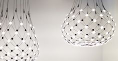 MILAN DESIGN WEEK 2015: D' Review Part Two  |  Designer Francisco Gomez Paz took inspiration from the technological possibilities of LED when creating his stunning new Mesh lamp for Luceplan.