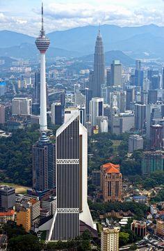 Towers of Kuala Lumpur   Malaysia (by Yaman Ibrahim)
