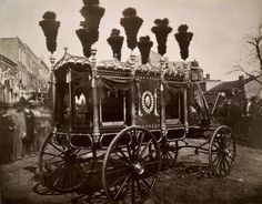President Abraham Lincoln's hearse, Springfield, by Samuel Montague Fassett, 1865