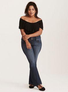 78f0850491c Plus Size Torrid Slim Boot Jeans - Medium Wash