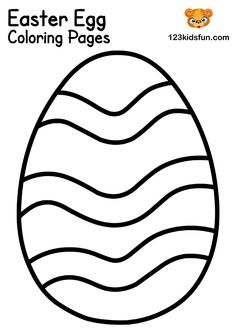 We have Free Easter Coloring Pages for Kids with Easter Egg, Easter Bunny, Easter Chick, Easter Basket. Kids will have lots of fun! Easter Bunny Template, Easter Templates, Easter Printables, Free Printables, Bunny Templates, Free Easter Coloring Pages, Easter Bunny Colouring, Easter Eggs Kids, Easter Crafts For Kids