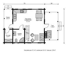 Jaskółka II - Domy drewniane letniskowe - DREWNEX Floor Plans, Projects, Floor Plan Drawing, House Floor Plans
