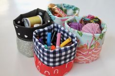Maybe you remember my tutorial for round bottom fabric buckets? I posted it way back when with instructions for two sizes. Recently when I was asking my friend for teacher gift ideas she suggested …