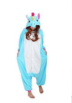 cb06a9a300 Kigurumi Unicorn Onesie Women Animal Unicornio Costume Flannel Warm Loose  Soft Sleepwear Jumpsuit Kid   Adult Onepiece Overall Size  (Height)  (Height) ...