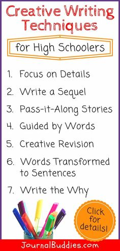 techniques of creative writing