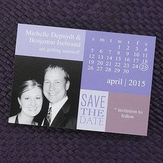 Up Close - Save the Date Magnet - Hydrangea