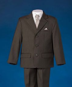 a708f7f5935 Boys Brown and Khaki Dress Suits