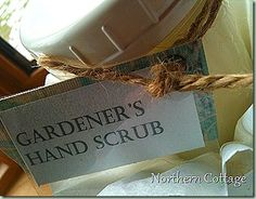 Hand cleaner after gardening