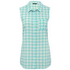M&Co Gingham Check Shirt ($22) ❤ liked on Polyvore