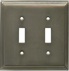 Art Deco Switch Plates Stamped Brass Deco Style Double