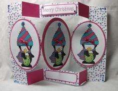 Card Gallery - Christmas Penguin 1 Tri Fold Card