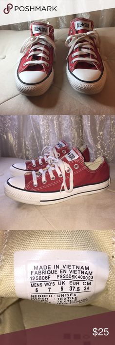Red Converse Shoes Red Converse Shoes. Great condition. Converse Shoes Sneakers
