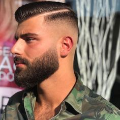 men s hairstyles and how to Beard Styles For Men, Hair And Beard Styles, Short Hair Styles, Mens Beard Grooming, Moustaches, Undercut Men, Awesome Beards, Facial Hair, Haircuts For Men