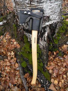 Veg Tan mask and belt loop designed to carry and cover the Wetterlings Fine Foresters Axe.