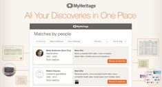 Introducing the New Discoveries Pages «  MyHeritage Blog